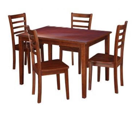 Bộ bàn 4 ghế gỗ cao su
