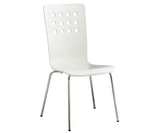 Ghế gỗ uốn Square trắng