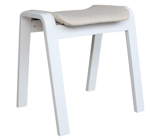 Ghế gỗ nệm fabric Vecteur white (hết hàng)