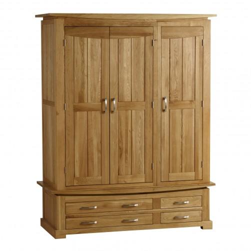 Tủ quần áo 3 cửa Wales Oak