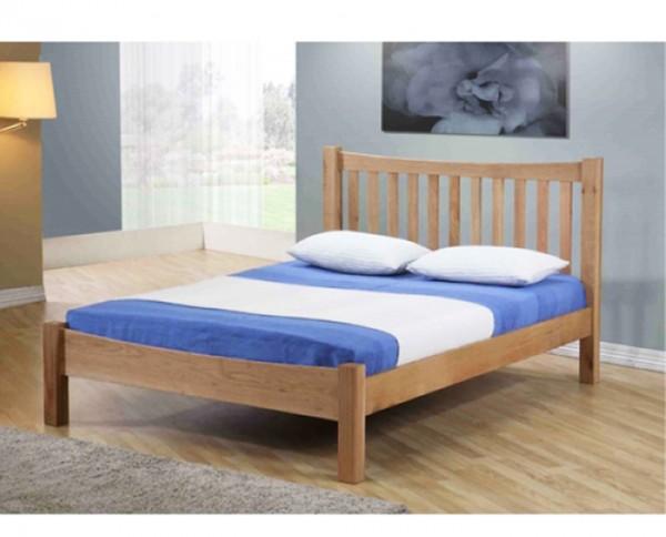 Giường nan gỗ sồi Milan 1m6