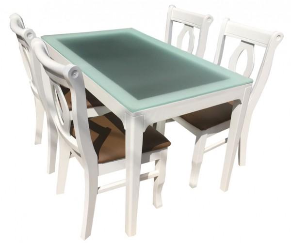 Bộ bàn ăn 4 ghế French