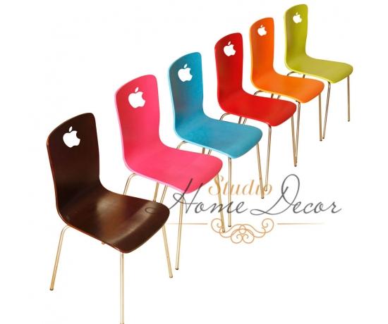 Ghế gỗ uốn Apple Red