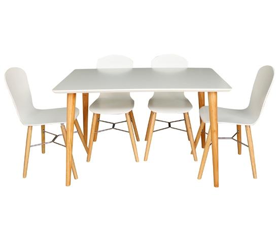 Bộ bàn ăn 4 ghế Leon