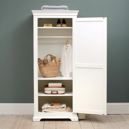 Wardrobe with 1 Door & 1 Drawer white