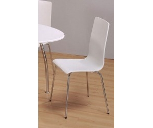 Ghế gỗ uốn Sarina trắng.