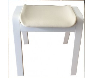 Ghế gỗ nệm fabric Vecteur white