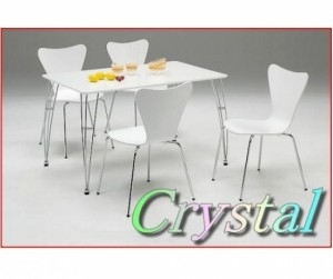 Bộ bàn ăn 4 ghế Crystal White
