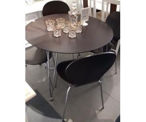 Bộ bàn ăn 4 ghế Ralph 90cm màu nâu
