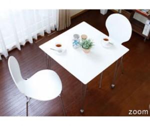 Bộ bàn 2 ghế gỗ uốn Lyon white
