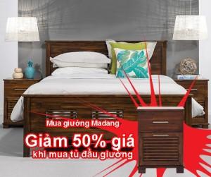 Giường đôi 1.6m Madang