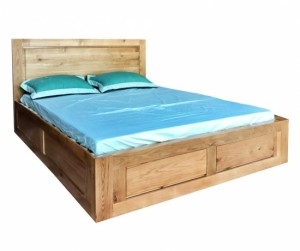 Giường đôi gỗ sồi 1m6 Yama