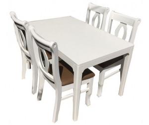 Bộ bàn ăn 4 ghế INGOLF WHITE
