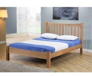 Giường đơn nan gỗ sồi Milan 1m4