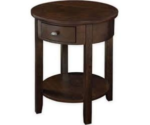 Round End Table, Espresso