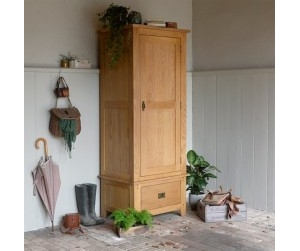 Wardrobe with 1 Door & 1 Drawer