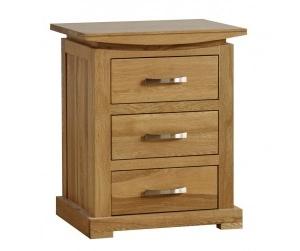 Wales Oak  3 Drawer Nightstand