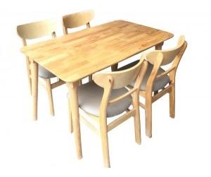Bộ bàn ăn 4 ghế Wood