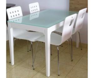 Bộ bàn ăn Frost 4 ghế Square