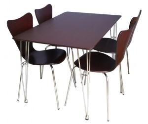 Bộ bàn ăn 4 ghế Crystal BR