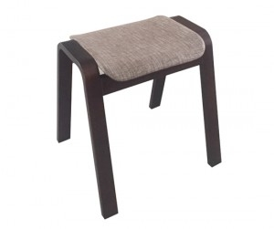 Ghế gỗ nệm fabric Vecteur gray